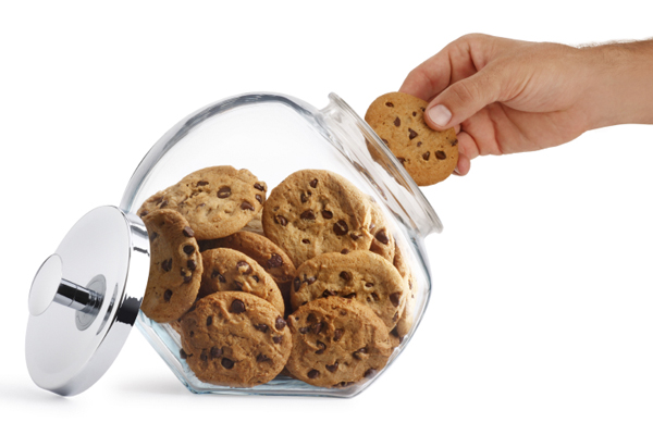 taking a cookie from the cookie jar