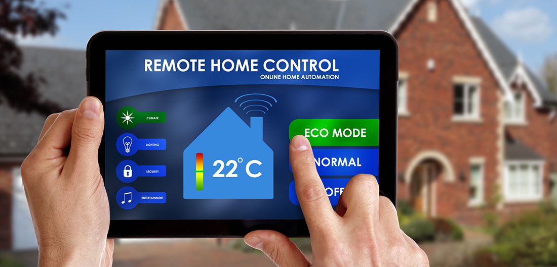 controlling smarthome with tablet