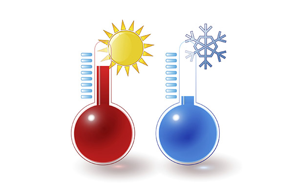 hot and cold thermometers