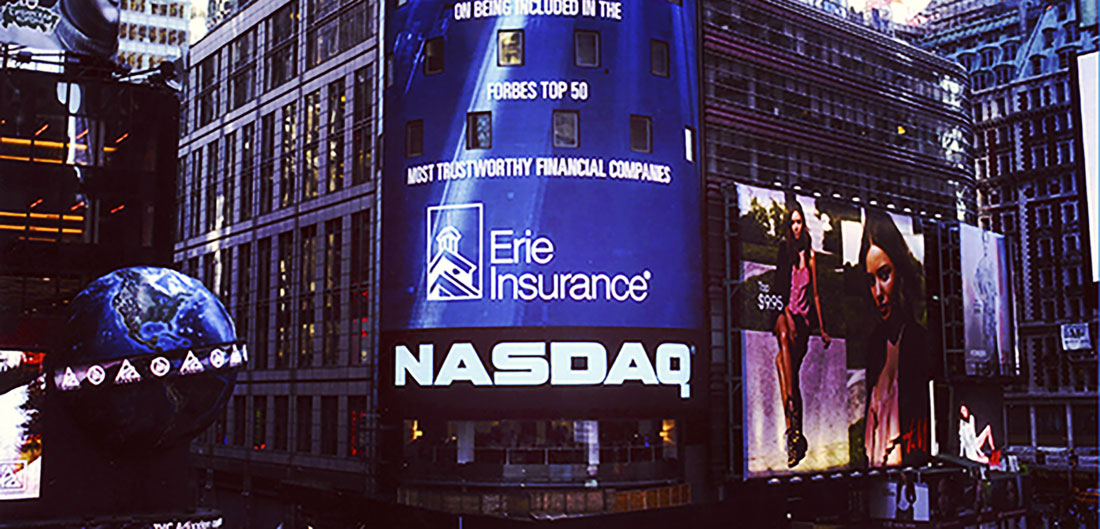 Erie Insurance on NASDAQ