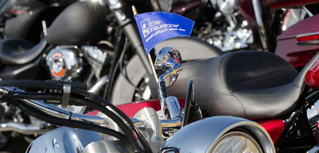 Motorcycles At Bike Rally