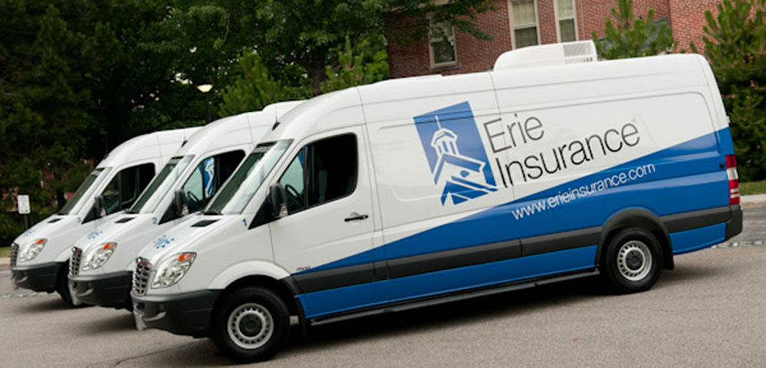 Erie Insurance Catastrophe response vans