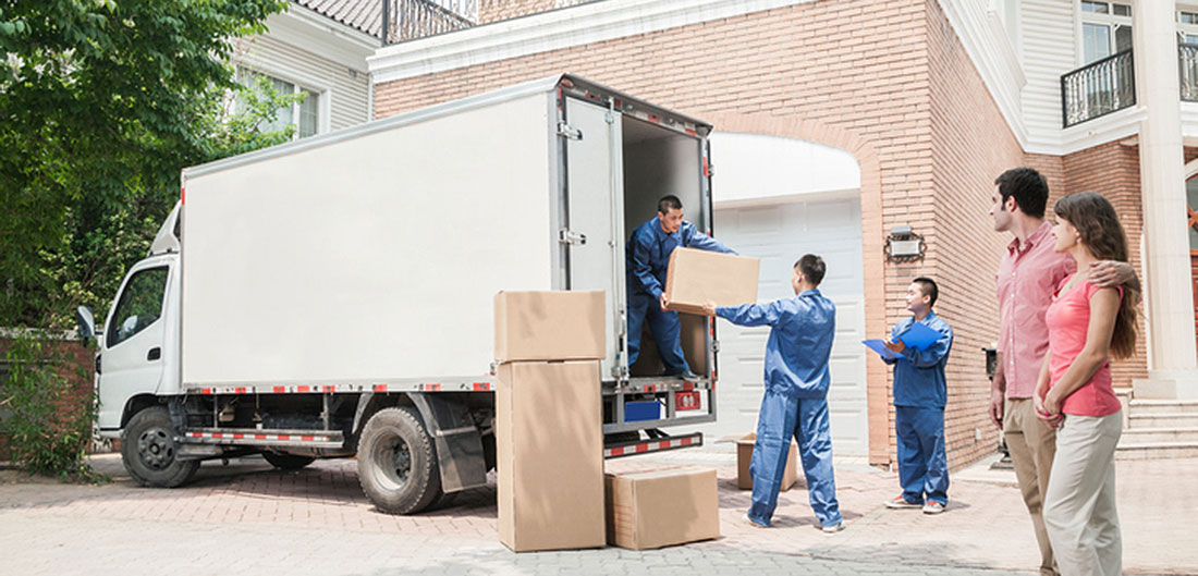moving company loading truck