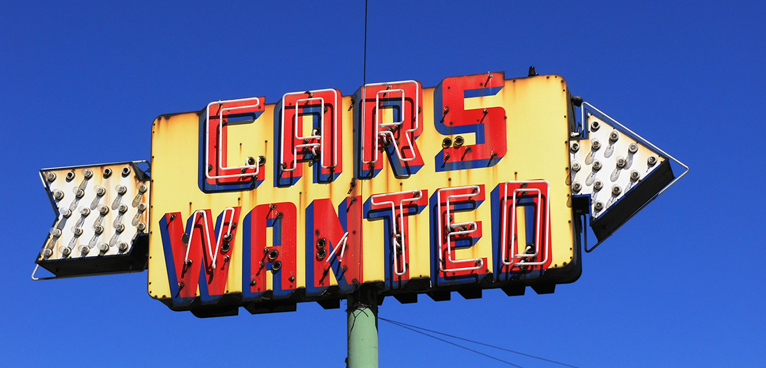 Cars Wanted sign