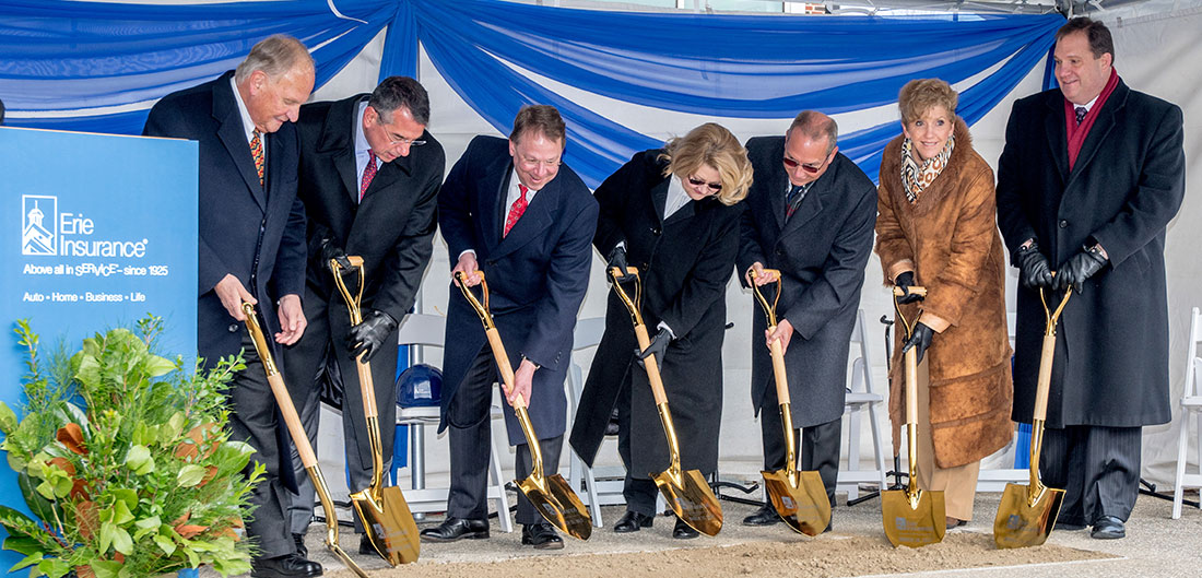 Erie Executives breaking ground on new building