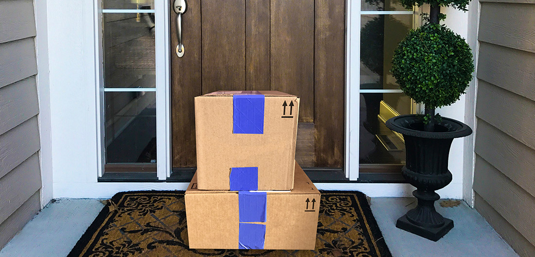 packages on a porch