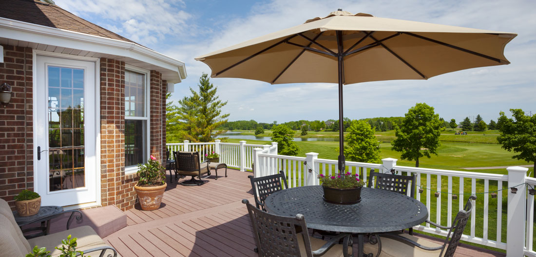 patio overlooks golf course