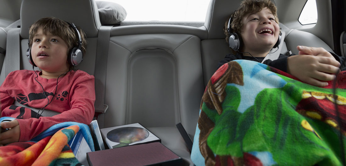 two children in backseat