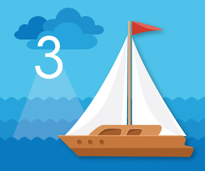 item 3: sailboat
