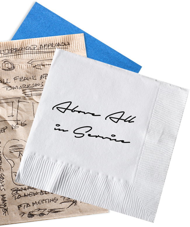 H.O. Hirt's napkin notes